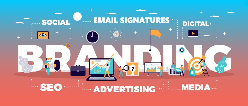 Crossware Mail Signature using email signatures for branding