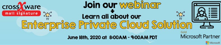 join our webinar to learn about our new enterprise private cloud solution