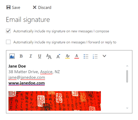 How to Add Signature in Outlook Web App (2016)
