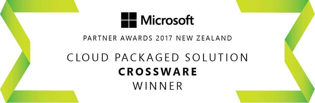 microsoft partner awards cloud packaged solution winner crossware banner