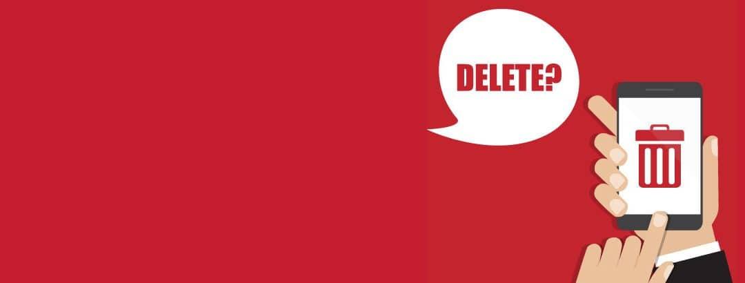 Delete banner